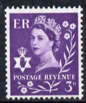 Great Britain Regionals - Northern Ireland 1958-67 Wilding 3d deep lilac wmk Crowns unmounted mint SG NI1