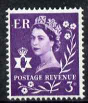Great Britain Regionals - Northern Ireland 1958-67 Wilding 3d deep lilac wmk Crowns centre phosphor band unmounted mint SG NI1p