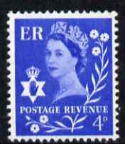 Great Britain Regionals - Northern Ireland 1958-67 Wilding 4d ultramarine wmk Crowns unmounted mint SG NI2