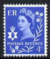 Great Britain Regionals - Northern Ireland 1958-67 Wilding 4d ultramarine wmk Crowns 2 phosphor bands unmounted mint SG NI2p