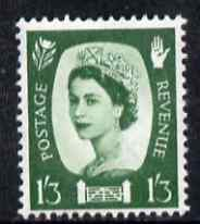 Great Britain Regionals - Northern Ireland 1958-67 Wilding 1s3d green wmk Crowns unmounted mint SG NI5