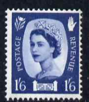 Great Britain Regionals - Northern Ireland 1958-67 Wilding 1s6d grey-blue wmk Crowns 2 phosphor bands unmounted mint SG NI6