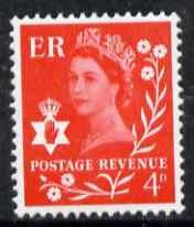 Great Britain Regionals - Northern Ireland 1968-69 Wilding 4d bright vermilion no wmk unmounted mint SG NI9