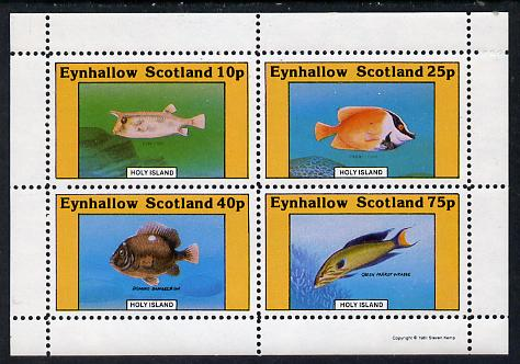 Eynhallow 1981 Fish #02 (Cow Fish, Wrasse, etc) perf  set of 4 values (10p to 75p) unmounted mint