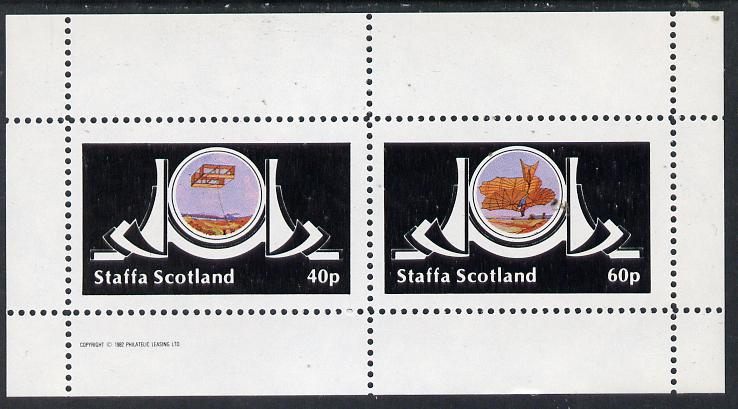 Staffa 1982 Early Flight perf  set of 2 values (40p & 60p) unmounted mint, stamps on aviation