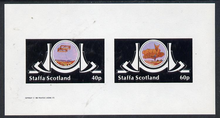 Staffa 1982 Early Flight imperf  set of 2 values (40p & 60p) unmounted mint