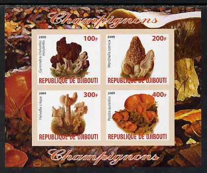 Djibouti 2009 Fungi #1 imperf sheetlet containing 4 values unmounted mint