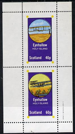 Eynhallow 1982 Early Aircraft #2 perf  set of 2 values (40p & 60p) unmounted mint