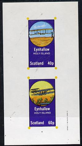 Eynhallow 1982 Early Aircraft #2 imperf  set of 2 values (40p & 60p) unmounted mint