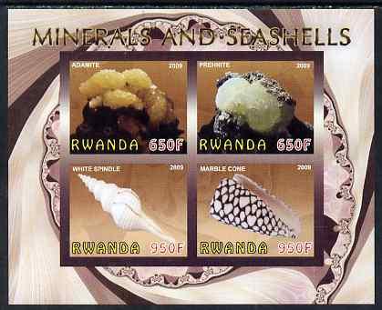 Rwanda 2009 Minerals & Seashells imperf sheetlet containing 4 values unmounted mint