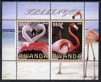 Rwanda 2009 Flamingoes perf sheetlet containing 2 values unmounted mint