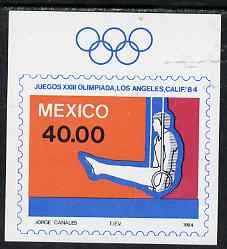 Mexico 1984 Los Angelos Olympic Games imperf m/sheet (Rings) unmounted mint SG MS 1714