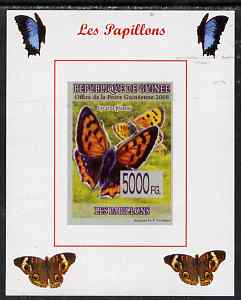 Guinea - Conakry 2008 Butterflies #2 individual imperf deluxe sheet unmounted mint. Note this item is privately produced and is offered purely on its thematic appeal