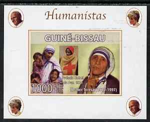 Guinea - Bissau 2008 Humanists - Mother Teresa individual imperf deluxe sheet unmounted mint. Note this item is privately produced and is offered purely on its thematic appeal