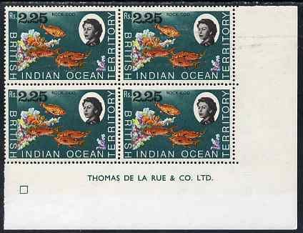 British Indian Ocean Territory 1968-70 Rock Cod 2r25 imprint corner block of 4 unmounted mint SG 27