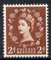 Great Britain 1958-61 Wilding Crowns graphite 2d unmounted mint SG590