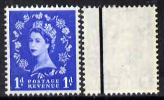 Great Britain 1958-61 Wilding Crowns graphite 1d (1 band) unmounted mint SG588a