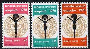 Mexico 1978 Miss Universe Contest set of 3 unmounted mint SG 1441-43