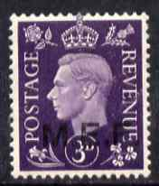 British Occupations of Italian Colonies - MEF 1942 KG6 3d violet unmounted mint SG M4
