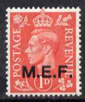 British Occupations of Italian Colonies - MEF 1943-47 KG6 1d pale scarlet unmounted mint SG M11