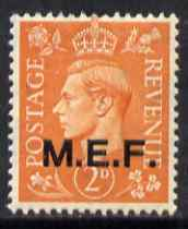 British Occupations of Italian Colonies - MEF 1943-47 KG6 2d pale orange unmounted mint SG M12