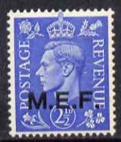 British Occupations of Italian Colonies - MEF 1943-47 KG6 2.5d light ultramarine unmounted mint SG M13