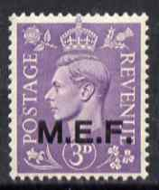 British Occupations of Italian Colonies - MEF 1943-47 KG6 3d pale violet unmounted mint SG M14
