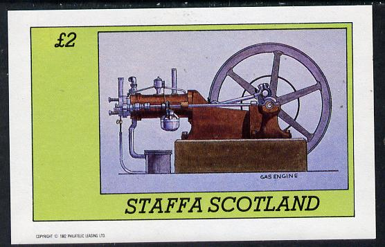 Staffa 1982 Inventions (Gas Engine) imperf deluxe sheet (�2 value) unmounted mint