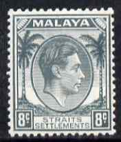 Malaya - Straits Settlements 1937-41 KG6 8c grey lightly mounted mint SG 283
