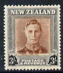 New Zealand 1947-52 KG6 3s red-brown & grey unmounted mint SG 689