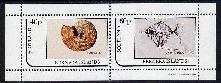 Bernera 1981 Fossils (Goniatite & Mene Rhombea) perf  set of 2 values (40p & 60p) unmounted mint, stamps on marine-life   minerals, stamps on fossils