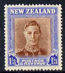 New Zealand 1947-52 KG6 1s3d red-brown & blue (wmk sideways) unmounted mint SG 687, stamps on , stamps on  kg6 , stamps on
