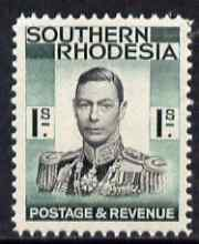 Southern Rhodesia 1937 KG6 def 1s black & blue-green unmounted mint, SG48