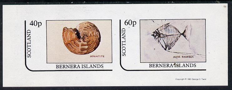 Bernera 1981 Fossils (Goniatite & Mene Rhombea) imperf  set of 2 values (40p & 60p) unmounted mint