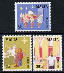 Malta 1981 Christmas set of 3 unmounted mint, SG 683-5
