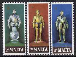 Malta 1977 Suits of Armour set of 3 unmounted mint, SG 572-4