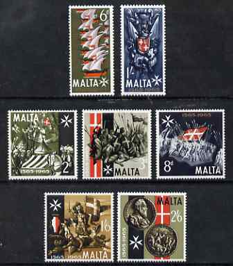 Malta 1965 400th Anniversary of Great Siege set of 7 unmounted mint, SG 352-8