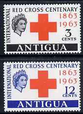 Antigua 1963 Red Cross Centenary perf set of 2 unmounted mint SG 147-8