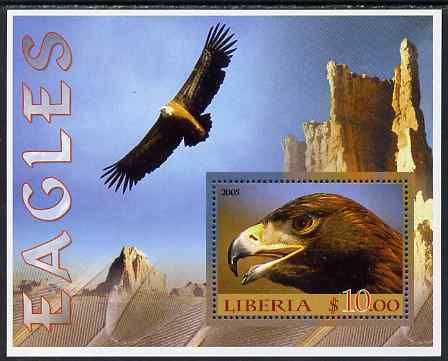 Liberia 2005 Eagles #01 perf m/sheet unmounted mint