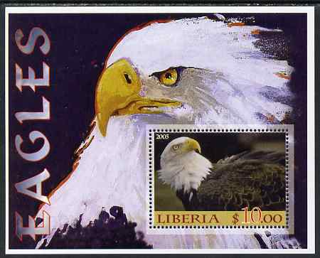 Liberia 2005 Eagles #02 perf m/sheet unmounted mint