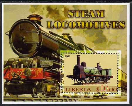 Liberia 2005 Steam Locomotives #02 perf m/sheet unmounted mint