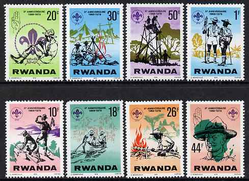 Rwanda 1978 Scout Anniversary perf set of 8 unmounted mint, SG 851-8