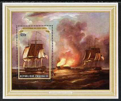 Rwanda 1976 Bicentenary of American Revolution perf m/sheet unmounted mint, SG MS 735
