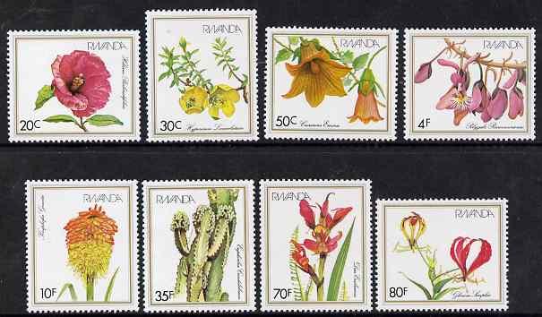 Rwanda 1982 Flowers perf set of 8 unmounted mint, SG 1097-1104