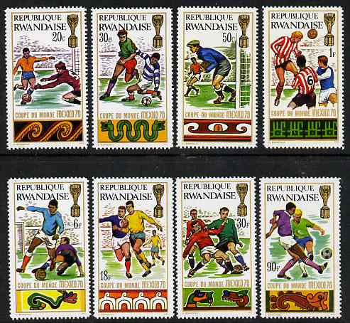 Rwanda 1970 Football World Cup perf set of 8 unmounted mint, SG 353-60