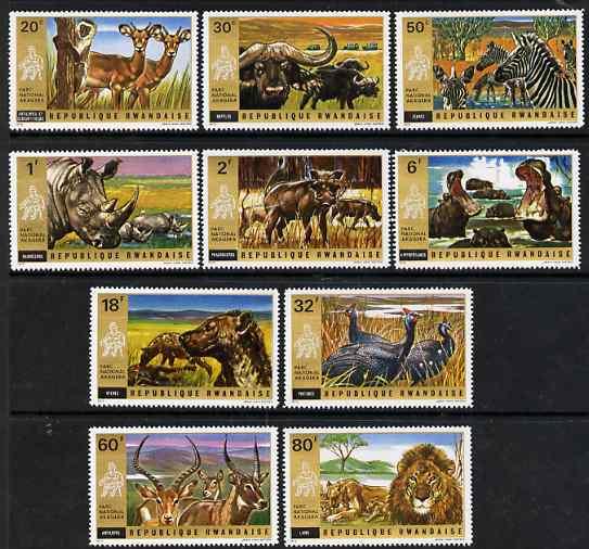 Rwanda 1972 Akagera National Park perf set of 10 unmounted mint, SG 456-65