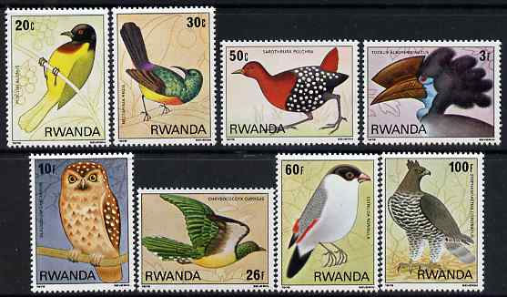 Rwanda 1980 Birds perf set of 8 unmounted mint, SG 956-63