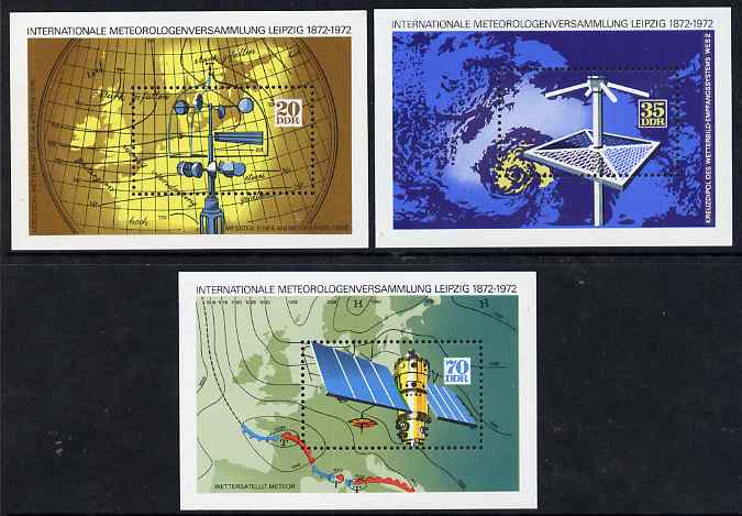 Germany - East 1972 International Meteorological Meeting set of 3 perf m/sheets unmounted mint, SG MS E1465