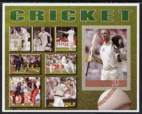 Liberia 2006 Cricket imperf m/sheet unmounted mint