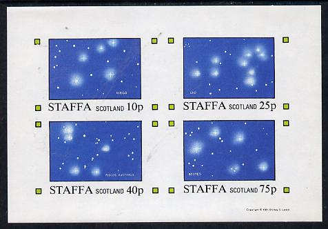 Staffa 1981 Constellations (Virgo, Leo, Pisces & Bootes) imperf  set of 4 values (10p to 75p) unmounted mint